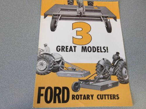 Ford Rotary Cutters Sales Brochure  1957                 lw