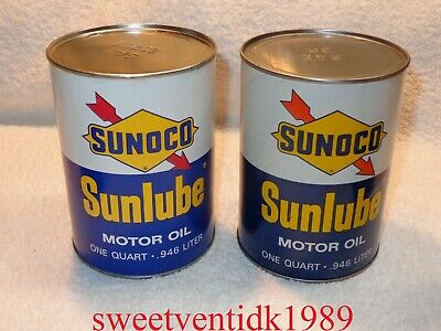 (1)...'NOS' Vintage SUNOCO Sunlube Motor Oil Can....SAE 30 or SAE 20.20W....Full