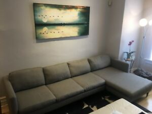 Mid century modern sectional couch for sale