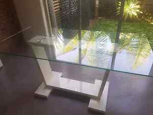 Glass  6 Seater Dining Table Bundall Gold Coast City Preview
