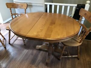 Wood Kitchen Table with 6 Chairs