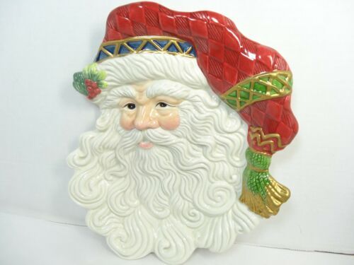 Fitz and Floyd Classics Jolly Ole St. Nick/Santa Canape Plate/Wall Hanging