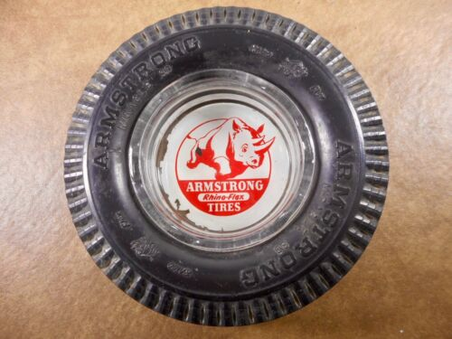 VINTAGE ARMSTRONG ADVERTISING TIRE ASHTRAY