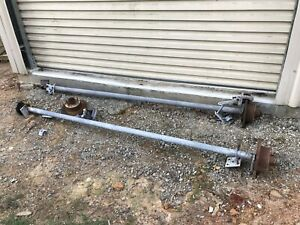 Pair Of Boat Trailer Axles And Brakes