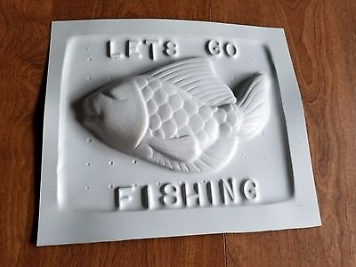 Vintage Lets Go Fishing Candy Chocolate Soap Or Beeswax Mold. Honey Bee
