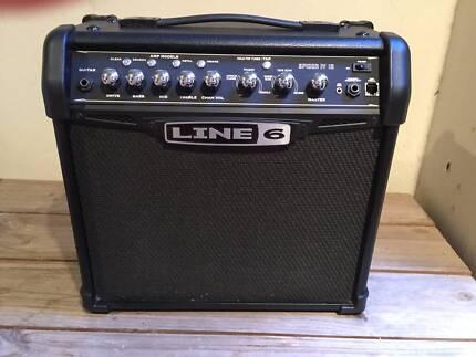 Ashton Strat Guitar and Line 6 Spider IV Amp