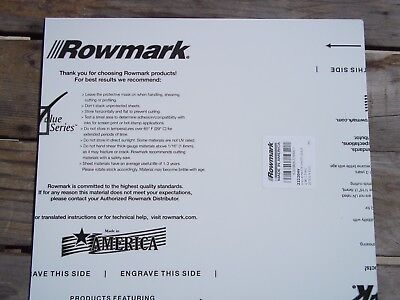 Rotary Engravable Sheet Of Rowmark Plastic Stock White With Black Core 12x12