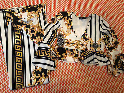 Womens Versace Style Top & Trousers