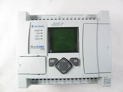 Allen Bradley Micrologix 1100 Processor 1763-l16bwa Ser B Good Condition
