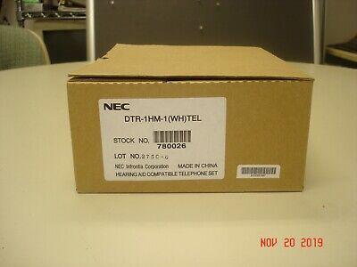 New Nec Dtr-1hm-1 Single Line White Office Telephone W Handsfree Monitor In Box