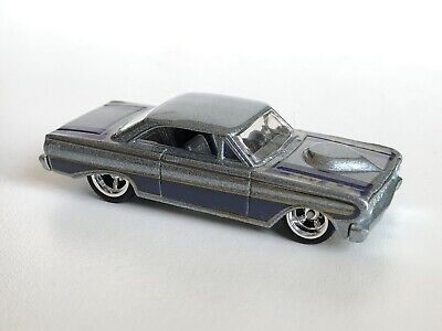 HOT WHEELS 64 FORD FALCON SPRINT REAL RIDERS GARAGE 1964 SILVER GRAY 2011 LOOSE