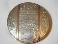 LOOK Antique Bethlehem 1920 Compact with Sleeve 833 Continental Silver LG
