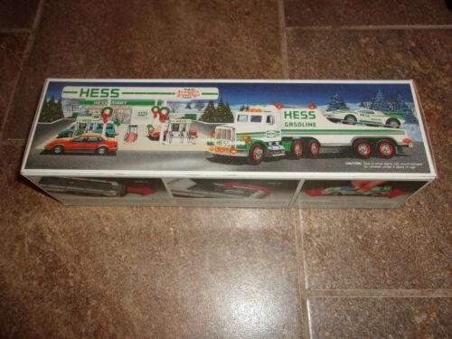 NIB 1991 HESS TRUCK - TOY TRUCK AND RACER - LAMBORGHINI