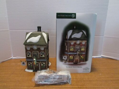 Dept. 56 2004 T.C. Chester Clocks & Watches #56.58726 Excellent