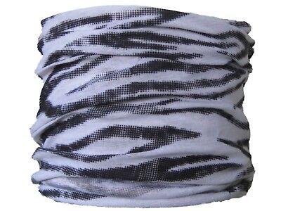 Neck Tube Zebra Stripes skiing biker motorcycle bike scarf hat Snood base layer Base Layer Neck Tube