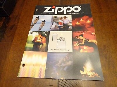 FULL SIZE ZIPPO LIGHTER CATALOG 2000 UNUSED