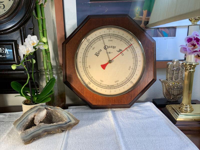 Vintage Howard Miller Barometer Weather Station RARE Model 5024 Art Deco USA