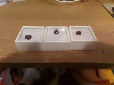 5.74 ct Each GF Ruby Oval Cabochon 10x8 mm