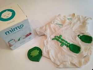 Mimo Baby Monitor with 3 0-3 + 2 3-6 month kimonos