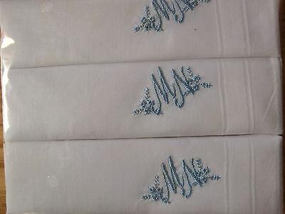 Monogrammtaschentücher für Damen,in weiß 29x29 cm,,2x3 im Klarsichtbeutel verp.