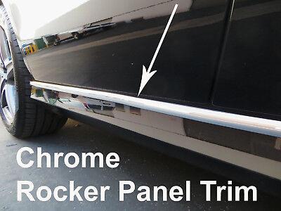 (2000-2018 Lincoln Chrome SIDE ROCKER PANEL Trim Molding Kit 2PC)