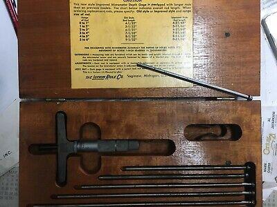 Lufkin 513n Micrometer Depth Guage 0-6