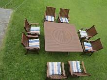 REFURBISHED KWILA 9 PIECE SQUARE OUTDOOR SETTING. CAN DELIVERY Aspley Brisbane North East Preview