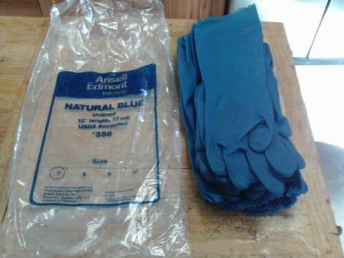 Ansell Edmont 1 DZ Industrial Unlined 17mil Size 7 Blue Gloves