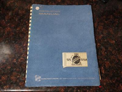 Tektronix 515 515a Instruction Manual