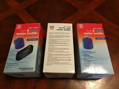 Total of 3-Hot & Cold Water Bottle (bulk) Rite Aid, Pain Relief, XL, Latex Free - Reusable Water Bottles Bulk