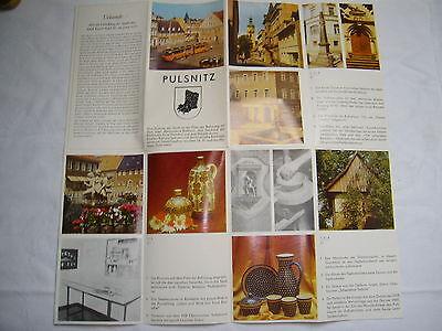 Prospekt-Faltblatt , Pulsnitz , 80er Jahre