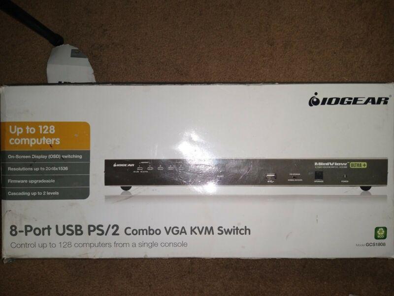 IOGEAR GCS1808 Combo KVM Switch