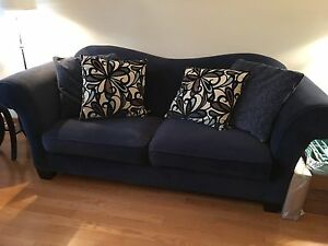 Large indigo blue couch -reduced!