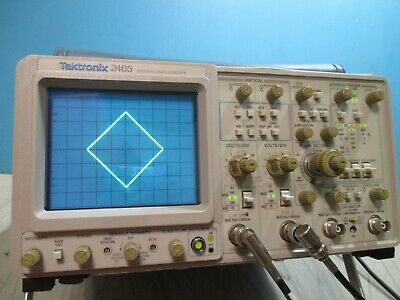 Tektronix 2465 300 Mhz Oscilloscope 2465  Good Crt Lower Time