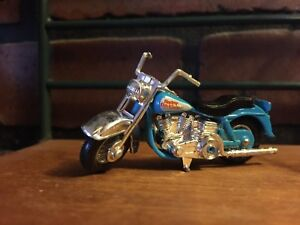 Harley Davidson Motorcycle Die Cast Miniature Vintage Turquoise SIlver