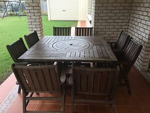 9 piece outdoor setting Calamvale Brisbane South West Preview