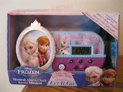 Lovely Elsa and Anna from Frozen-ALARM CLOCK-Musical-Lights up-Sleep timer-NRFB