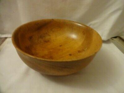Vintage Wooden Bowl Diameter 25.5 cm Height  10 cm