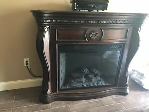 Electric fireplace real wood