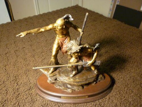 "Bronze Sculpture By Ernie Cselko ""Intruder Alert"" Franklin Mint"