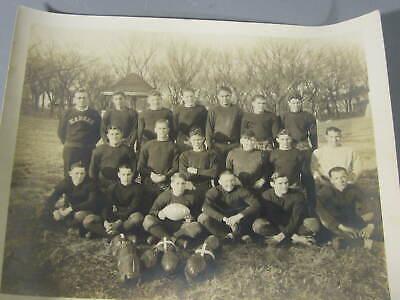 1929 Team Photograph of Youth Football Team / Coach w/ Kansas Jacket