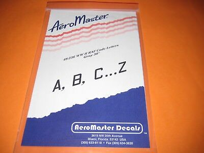 AEROMASTER DECALS RAF CODE LETTERS WW II AMD48236