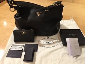 Prada shoulder bag and matching wallet