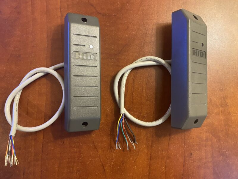Pair Of HID MiniProx Point HID Proximity Card Reader-Gray TESTED