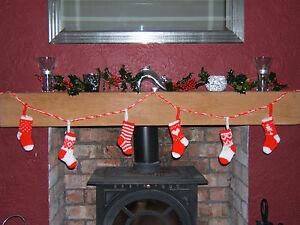 Christmas Stockings Bunting Garland Christmas Tree Decorations Knitting Pattern