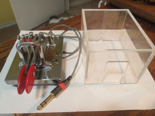 Vibroplex Deluxe Iambic Keyer Paddle-With case...NOW $185.00 !!!