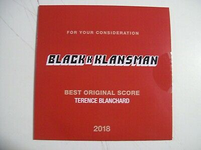 Blackkklansman FYC Best Original Score CD Music by Terence Blanchard
