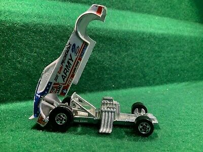 "VINTAGE HOT WHEELS DON ""SNAKE"" PRUDHOMME ARMY PLYMOUTH FUNNY CAR LOOSE 1977"