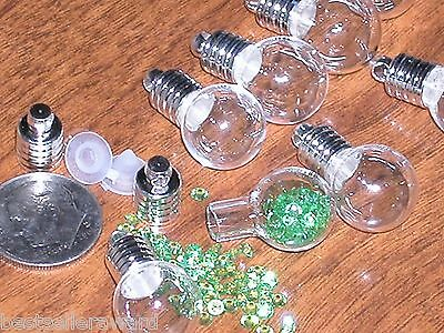 1 Fill locket round tube Keepsake Baby Tooth hair Pendant Vial Tiny Bottle charm