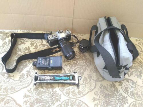 Minolta XG-1 Camera With IMAGE Lens, Extra IMAGE Lens, With Case and Flash